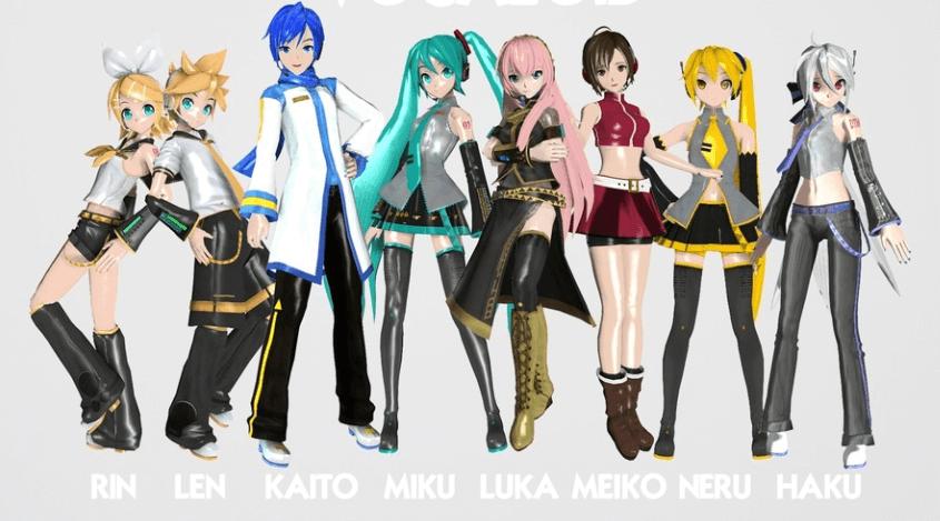L'ensemble des personnages de la team Hatsune Miku