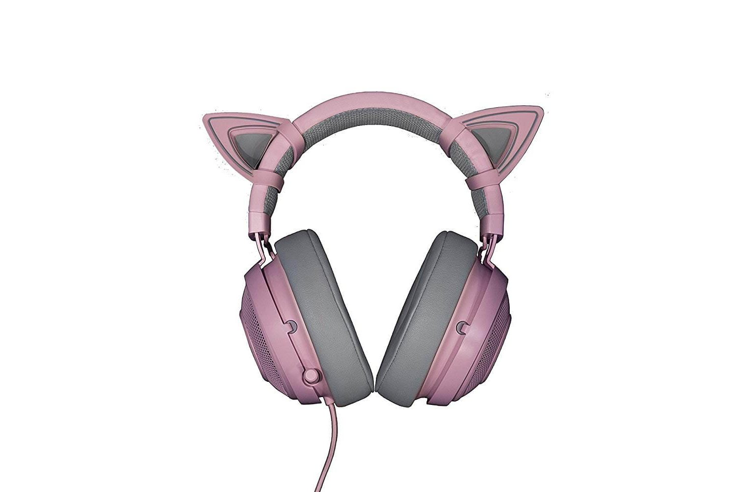 Kitty ears rose pour casque gamer Razer kraken