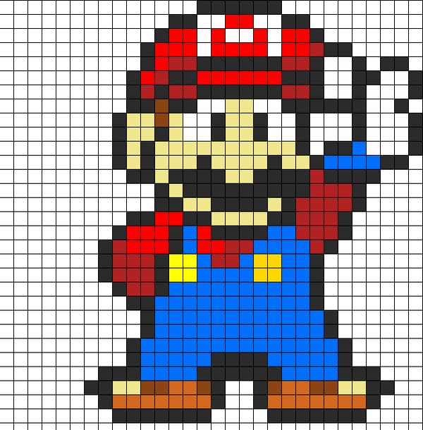 Pattern de Mario pour perles à repasser