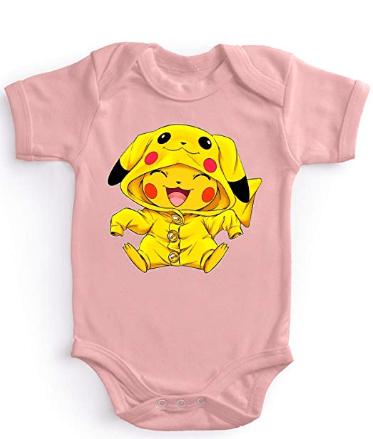 Body pour bébé rose pokémon pikachu